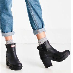 ISO Hunter Chelsea Heel boots Size 8!